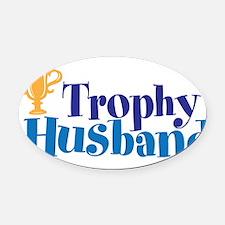 Trophy Husband Funny Valentine Oval Car Magnet