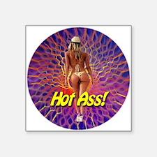 "Hot Ass! Square Sticker 3"" x 3"""