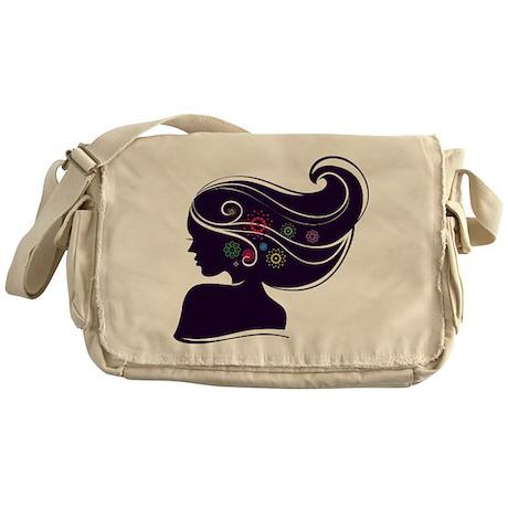 Floral Silhouette Messenger Bag
