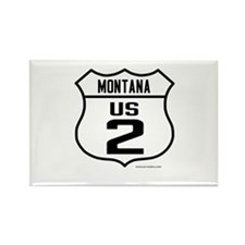 US Route 2 - Montana Rectangle Magnet