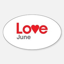 I Love June Decal