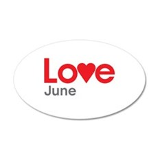 I Love June Wall Decal