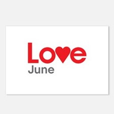 I Love June Postcards (Package of 8)
