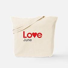 I Love June Tote Bag