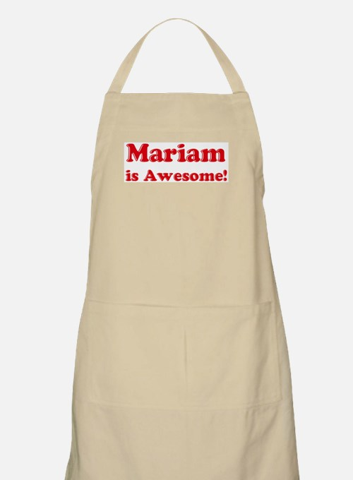 Mariam is Awesome BBQ Apron