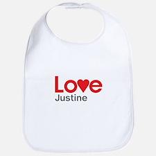 I Love Justine Bib