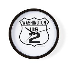 US Route 2 - Washington - old.png Wall Clock