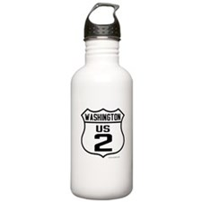 US Route 2 - Washington - old.png Water Bottle