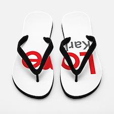 I Love Karla Flip Flops