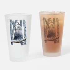 BLUE-EYED SNOW OWL Drinking Glass