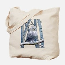 BLUE-EYED SNOW OWL Tote Bag