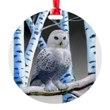 BLUE-EYED SNOW OWL Ornament