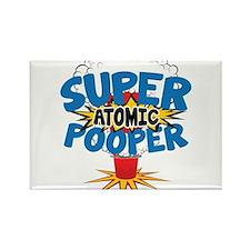 SUPER ATOMIC POOPER URL Rectangle Magnet