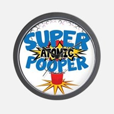 SUPER ATOMIC POOPER URL Wall Clock