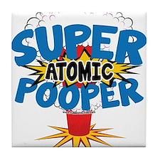SUPER ATOMIC POOPER URL Tile Coaster