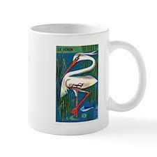 The Heron Fable French Matchbox Label Mug