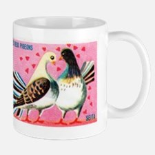 The Two Pigeons Fable French Matchbox Label Mug