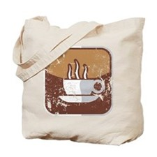 Kaffee-Symbol (used-Look) Tote Bag