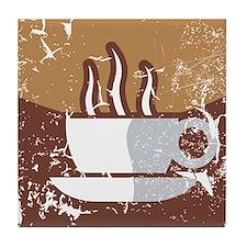 Kaffee-Symbol (used-Look) Tile Coaster
