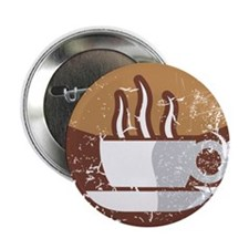 "Kaffee-Symbol (used-Look) 2.25"" Button"