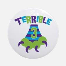 Terrible 3 Monster Ornament (Round)