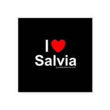 "Salvia Square Sticker 3"" x 3"""