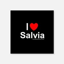 "Salvia Square Sticker 3"" x 3"""