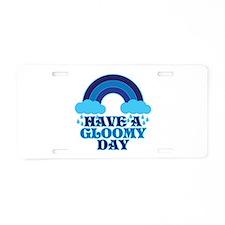 Gloomy Day Aluminum License Plate