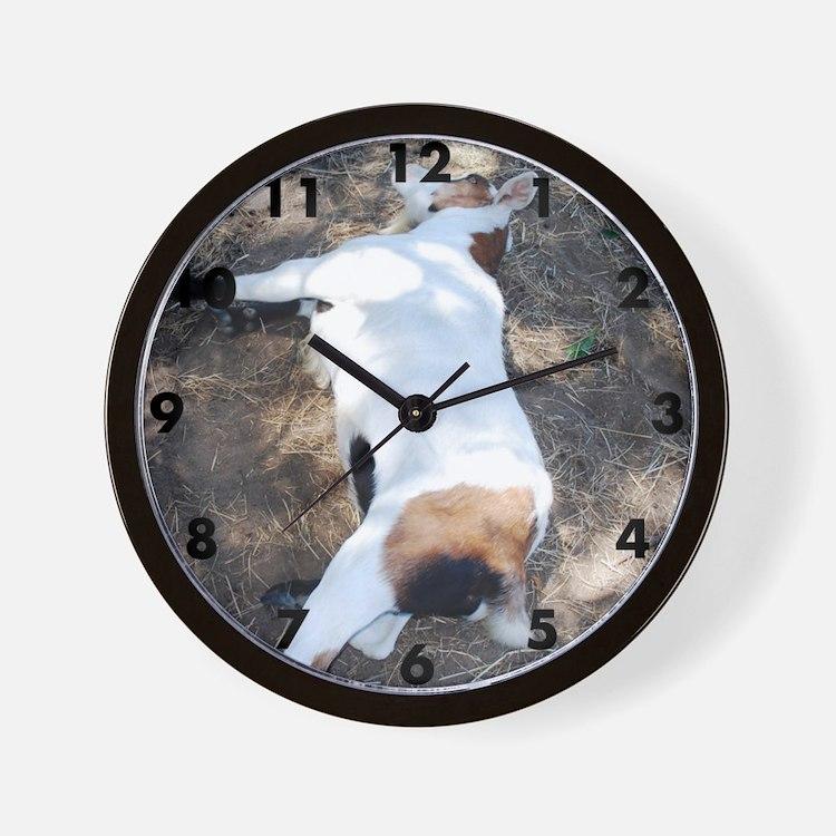 Cute Fainting goat Wall Clock
