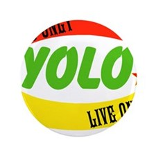 "YOLO WORLD 3.5"" Button (100 pack)"