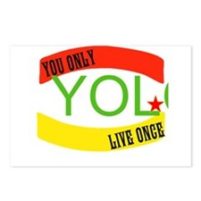 YOLO WORLD Postcards (Package of 8)