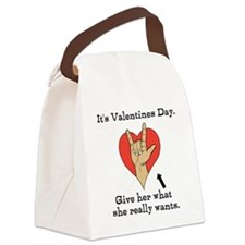 Naughty Valentines Day Canvas Lunch Bag