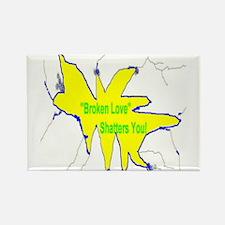 Broken Love Shatters Rectangle Magnet