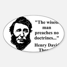 The Wisest Man - Thoreau Decal