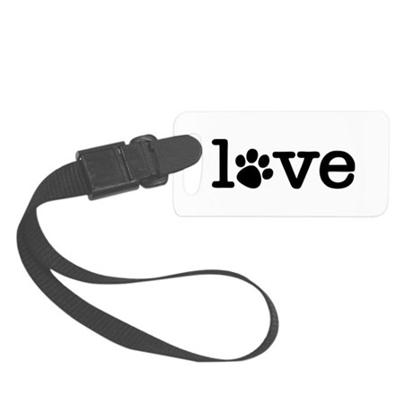 Pet love (white) Small Luggage Tag