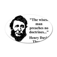 The Wisest Man - Thoreau Wall Decal