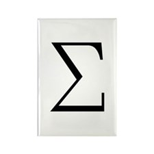 Greek Sigma Symbol Rectangle Magnet