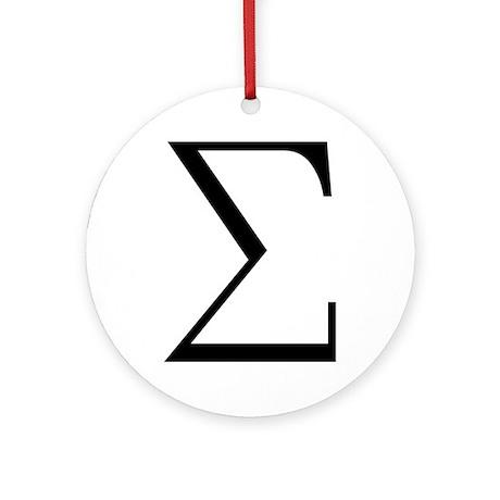 Greek Sigma Symbol Ornament (Round)