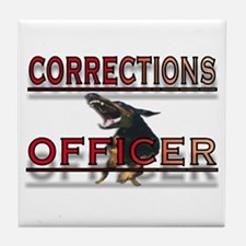 CORRECTIONS OFFICER Tile Coaster