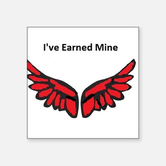 I've earned my redwings Sticker