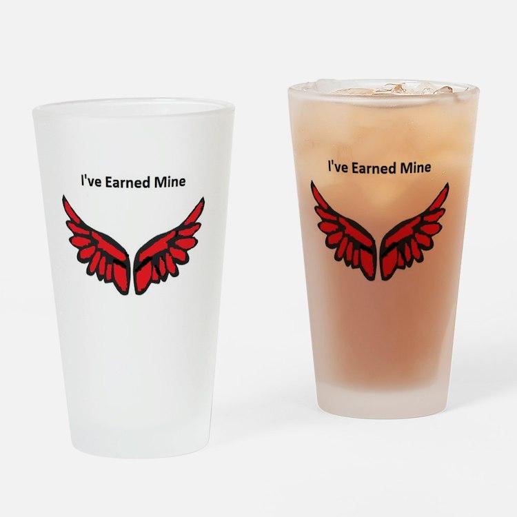 I've earned my redwings Drinking Glass