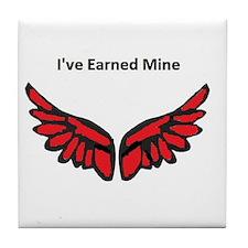 I've earned my redwings Tile Coaster