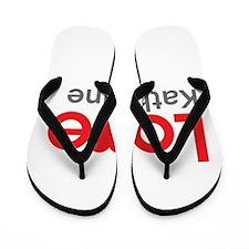 I Love Katharine Flip Flops
