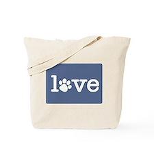 Pet love (blue) Tote Bag