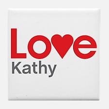 I Love Kathy Tile Coaster