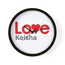 I Love Keisha Wall Clock