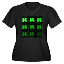 saint patricks day quad darkd Plus Size T-Shirt