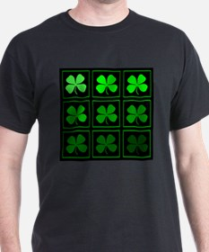 saint patricks day quad darkd T-Shirt