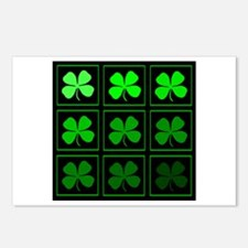 saint patricks day quad darkd Postcards (Package o