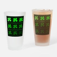 saint patricks day quad darkd Drinking Glass